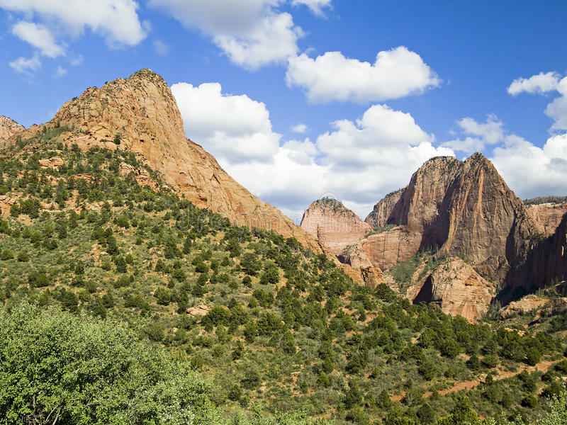 Peaks in Kolob Canyons District of Zion NP royalty free stock photos