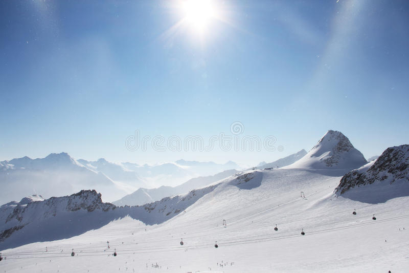 Download Peaks of mountains stock image. Image of resort, background - 26863765