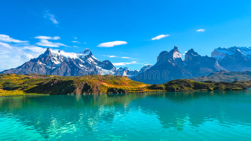 Peaks of Torres del Paine, National Park, Patagonia. Chile royalty free stock photo