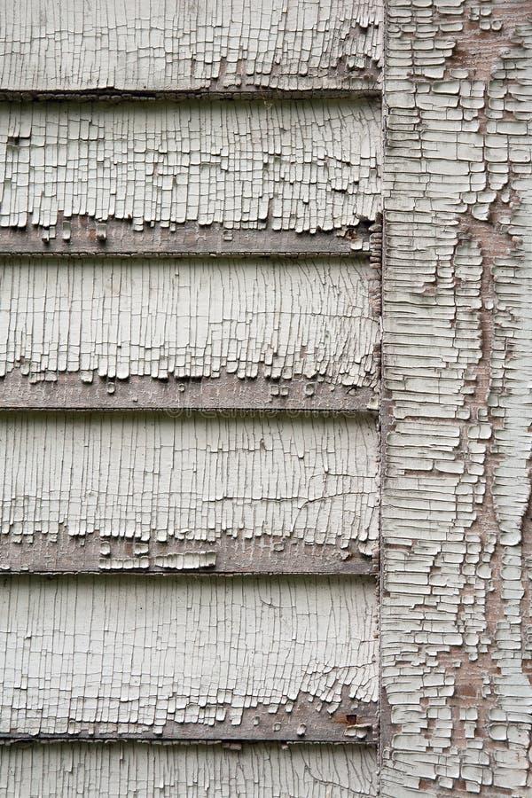 Pealing farba na clapboard ścianie zdjęcie royalty free