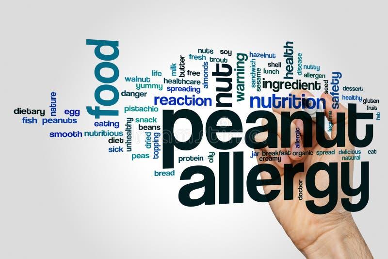 Peanut allergy word cloud stock photography