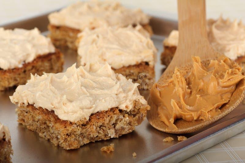 Peanut Butter Bars stock image