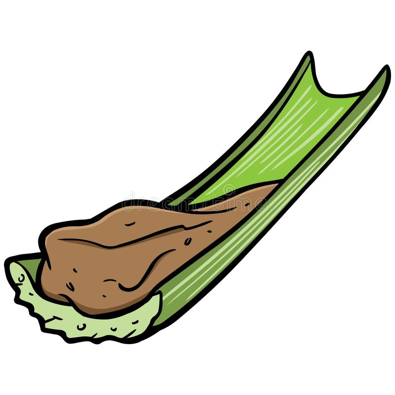 Peanut Butter and Celery. A vector illustration of a Peanut Butter and Celery royalty free illustration