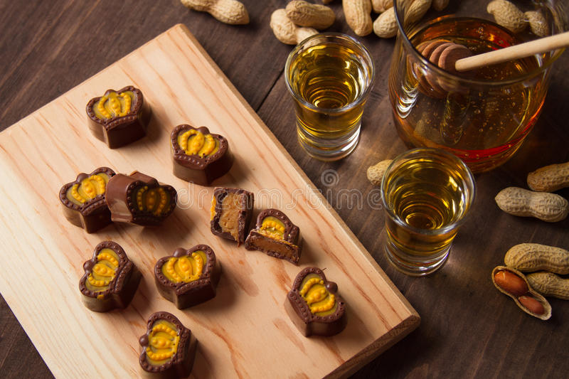 Peanut butter coconut cacao truffles royalty free stock photo
