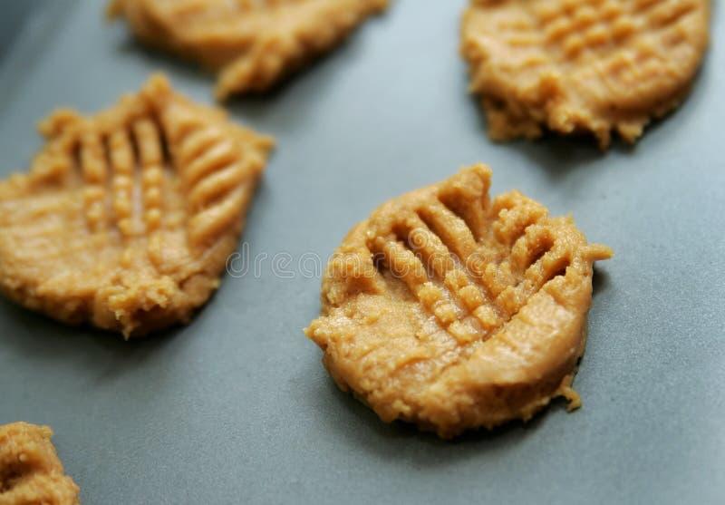 Peanut butter cookie dough stock photo