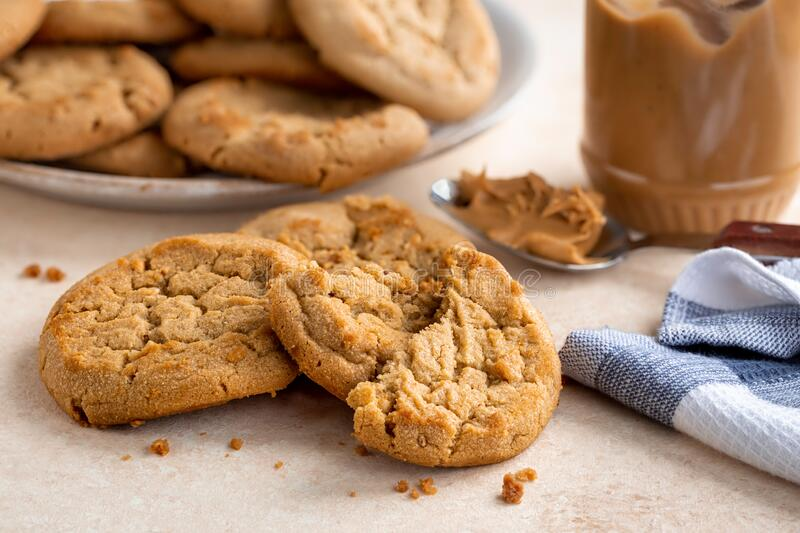 Peanut Butter Cookies on a Table royalty free stock photo