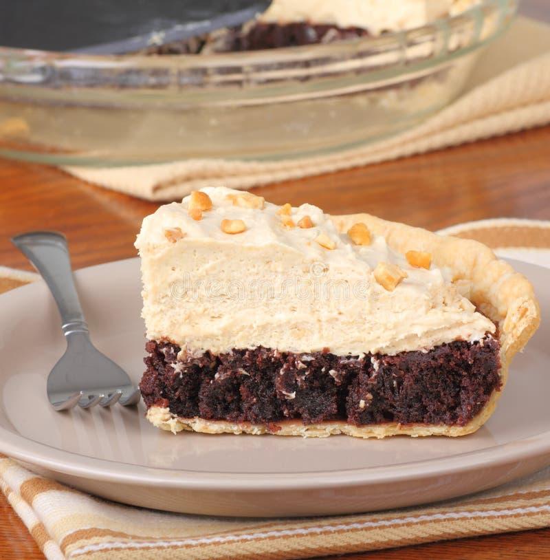 Peanut Butter Fudge Pie royalty free stock image