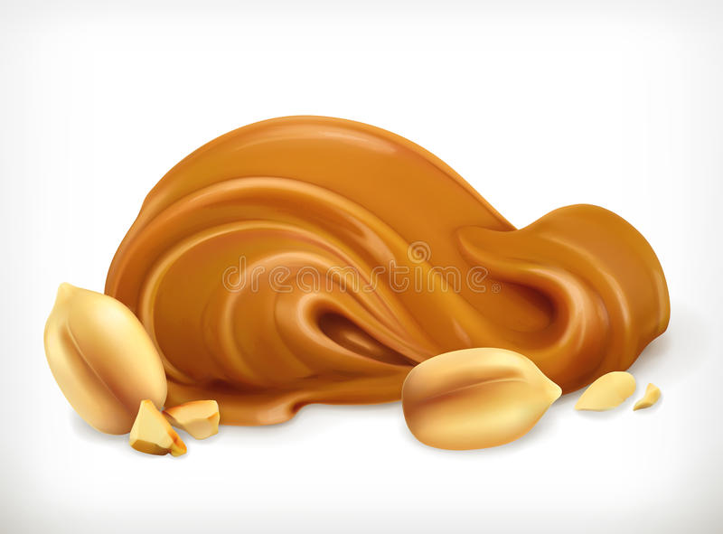 Peanut butter icon vector illustration
