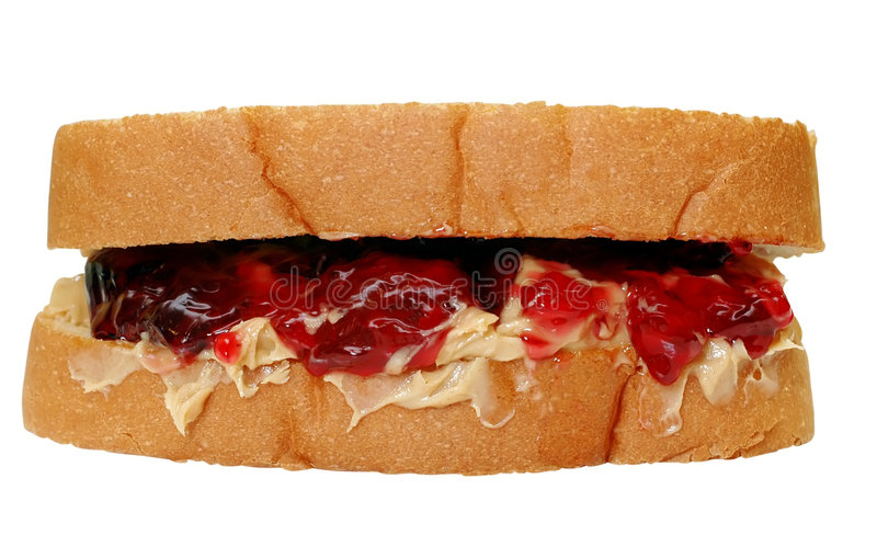 Peanut Butter & Jelly Sandwich royalty free stock image