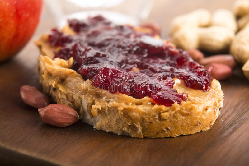 Peanut Butter and Jelly Sandwich royalty free stock image