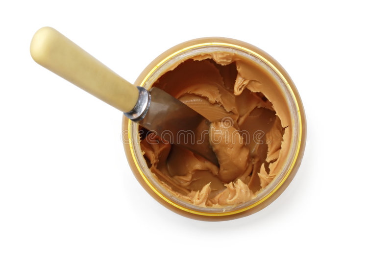 Download Peanut Butter (with Path) stock image. Image of white - 8516391