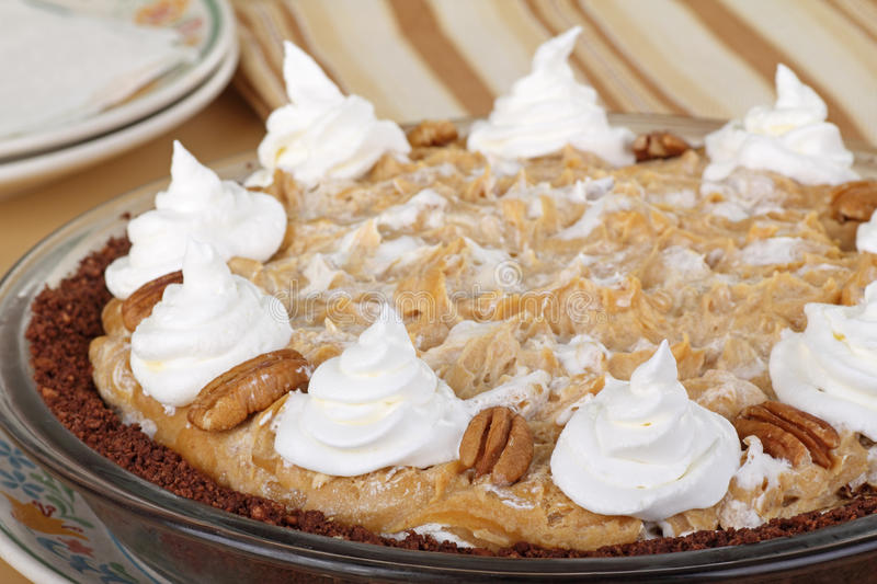 Peanut Butter Pie Closeup royalty free stock images