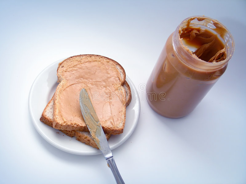 Download Peanut Butter Sandwich stock image. Image of slice, snack - 114033