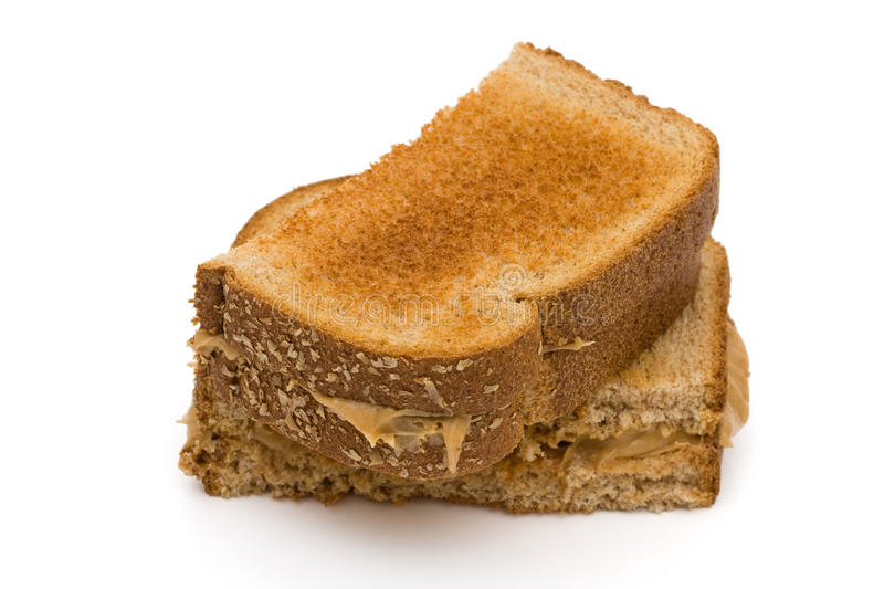Peanut butter sandwich royalty free stock images