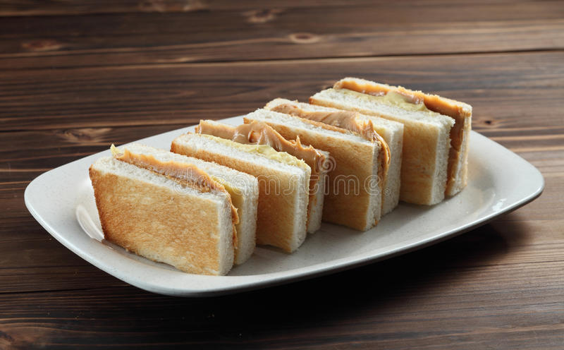 Peanut Butter Sandwich Royalty Free Stock Image