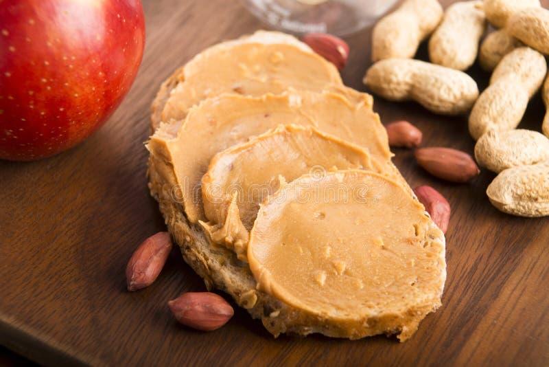 Peanut butter sandwich stock images