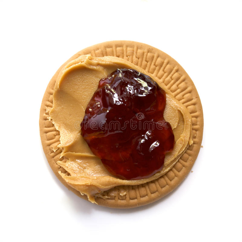 Download Peanut Butter And Strawberry Jam On Biscuit Stock Image - Image: 14926939