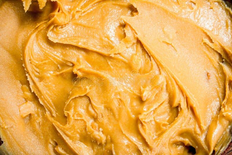 Peanut butter texture stock photography