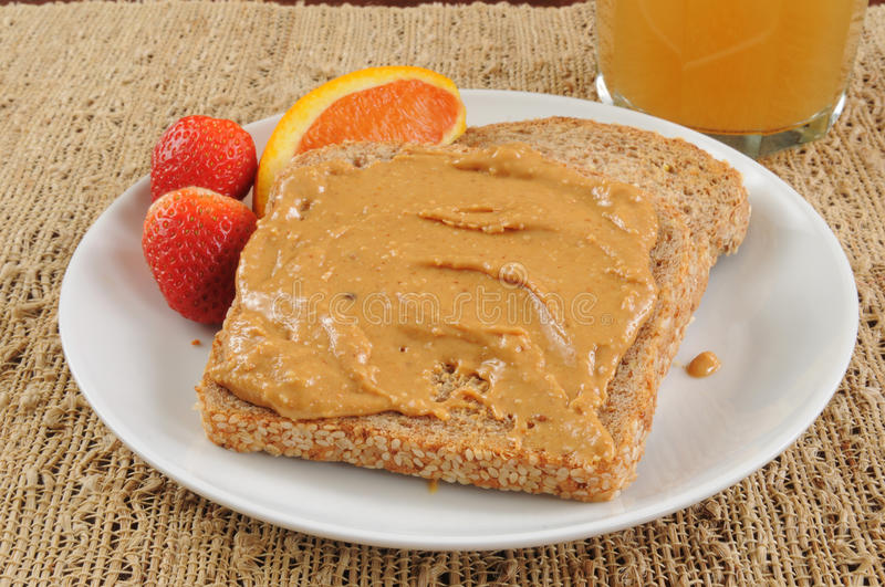 Download Peanut butter on toast stock photo. Image of snack, strawberries - 29041050