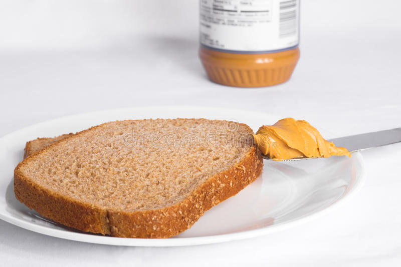Download Peanut Butter On Whole Wheat Bread Stock Image - Image: 22049269
