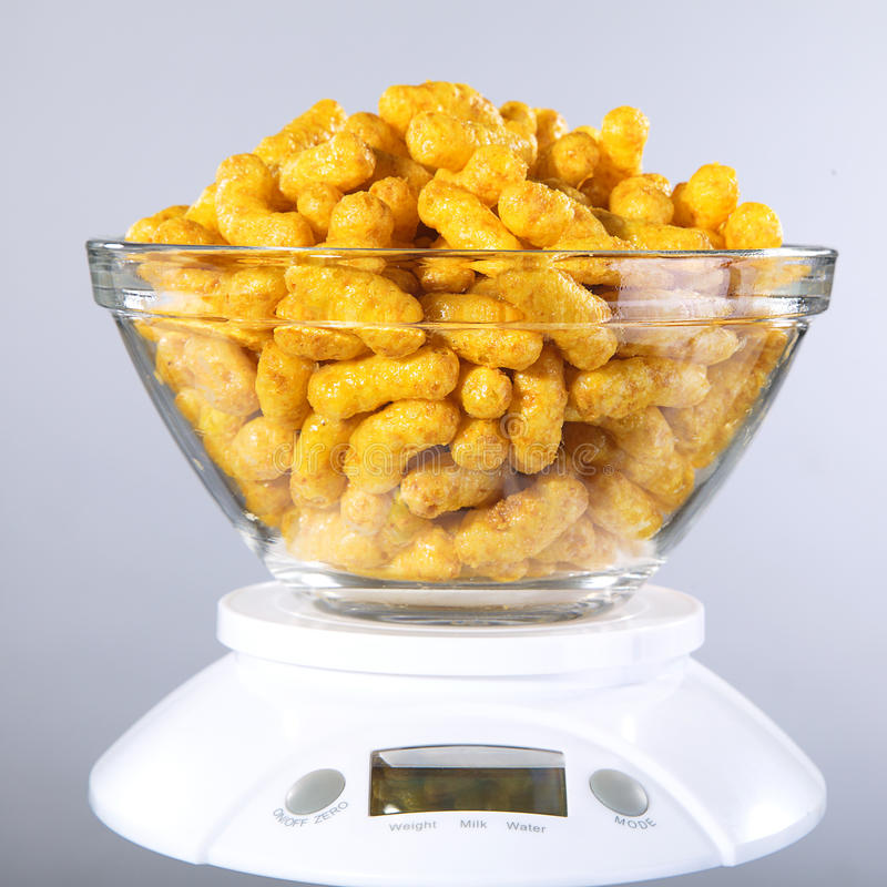 Peanut flips. In glass bowl stock photography