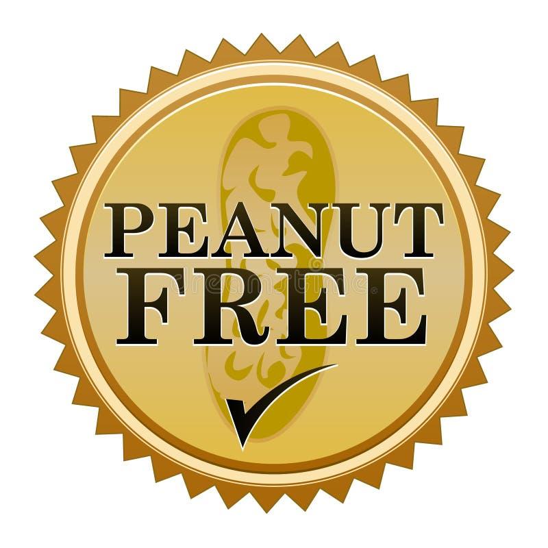 Peanut Free Seal. A seal promoting peanut free food royalty free illustration