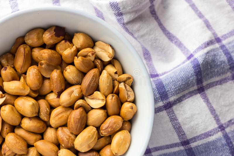 Peanuts. Food of Festa Junina, a typical brazilian party. Snacks royalty free stock photos