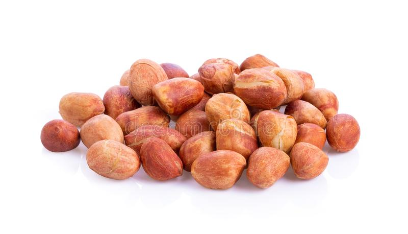 Peanuts. Roasted nuts isolated on white background. royalty free stock photo