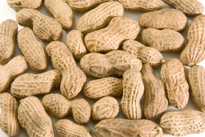 Peanuts in shell royalty free stock photo