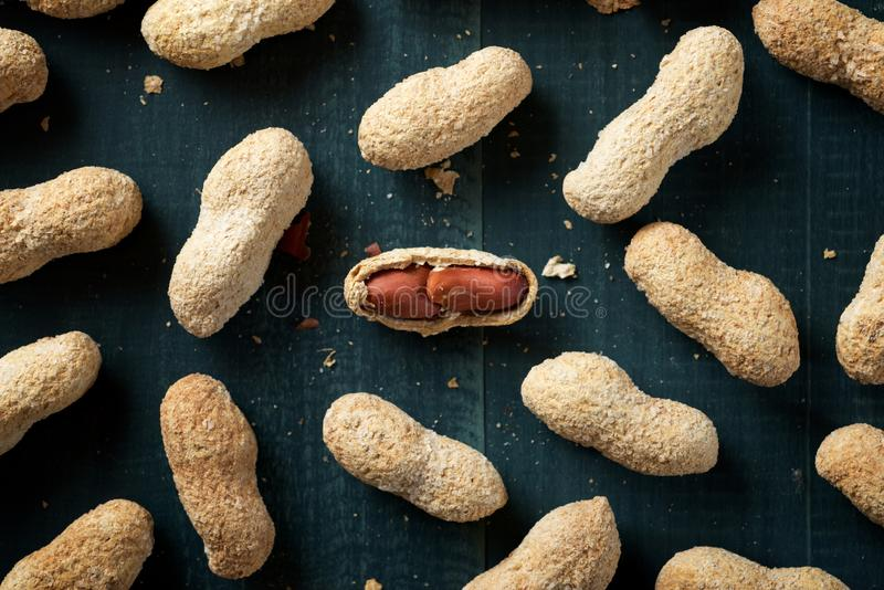 Peanuts with shell royalty free stock photo