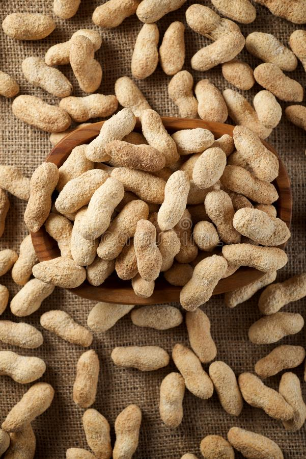 Peanuts with shell royalty free stock image