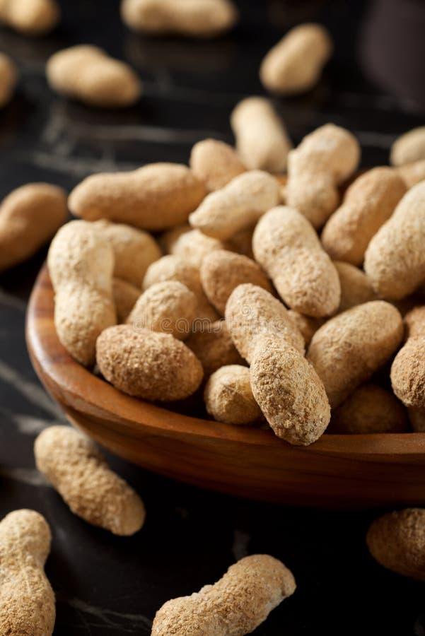 Peanuts with shell stock photo