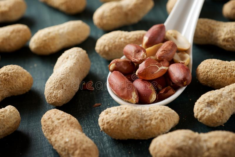 Peanuts with shell stock image