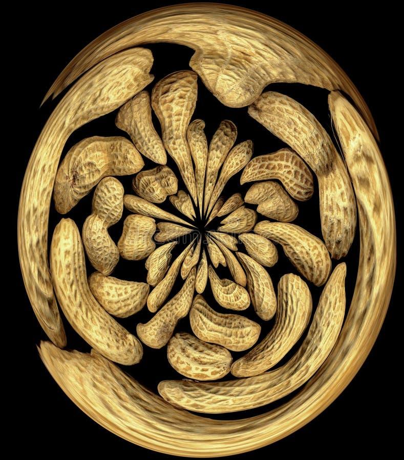 Peanuts swirl stock images