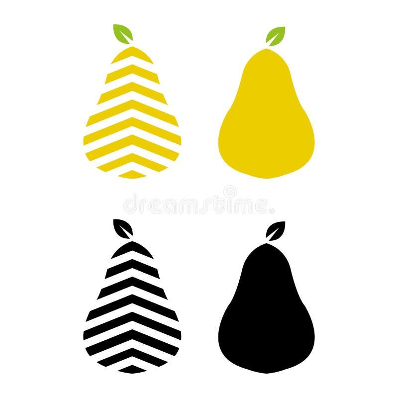Pear vektor illustrationer