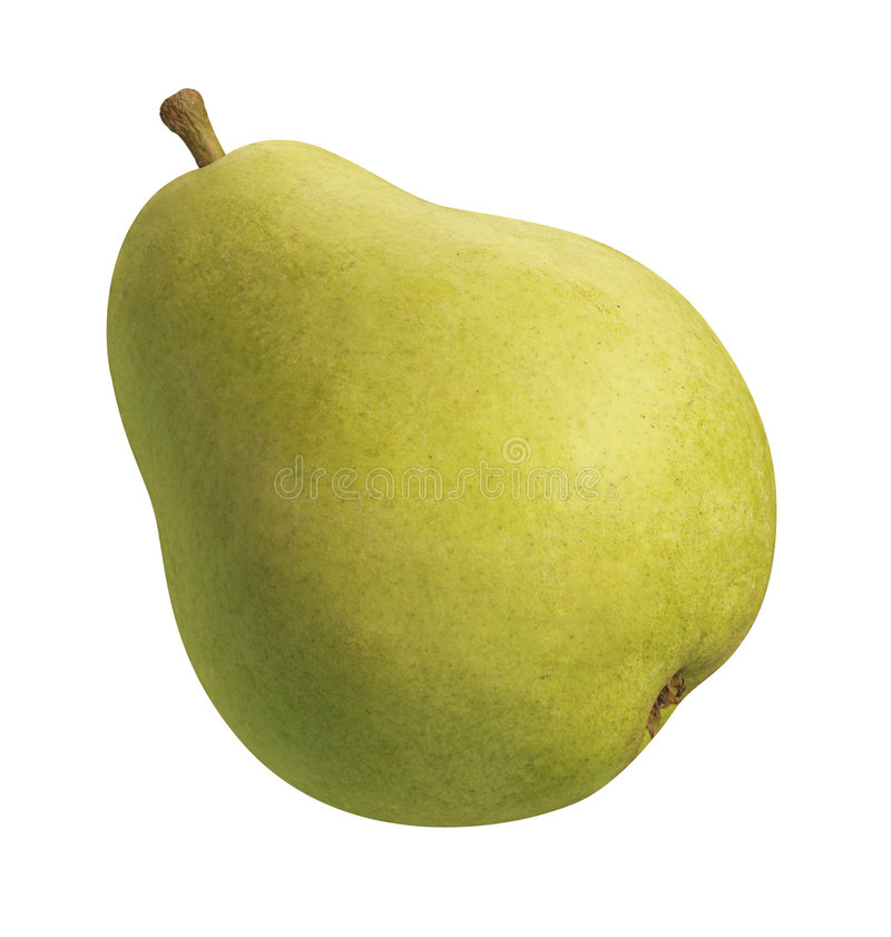 Pear. Green Pair against a white background. Isolation is on a transparent layer in the PNG format royalty free stock photos