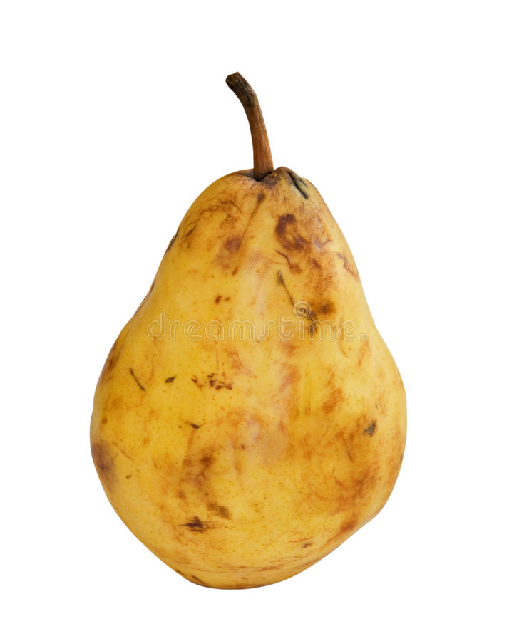 Download Pear stock image. Image of yellow, bruise, food, isolated - 7400593