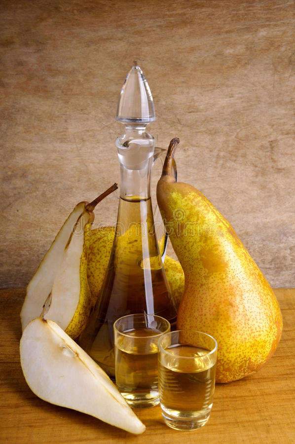 Pear brandy royalty free stock images