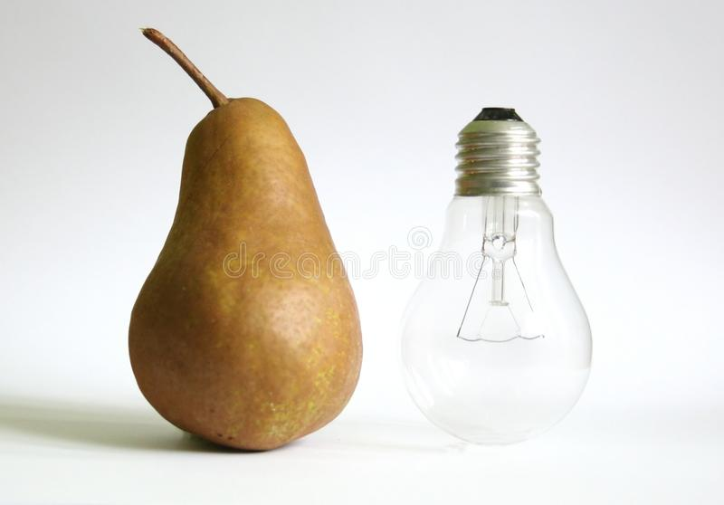 Pear and bulb stock photos