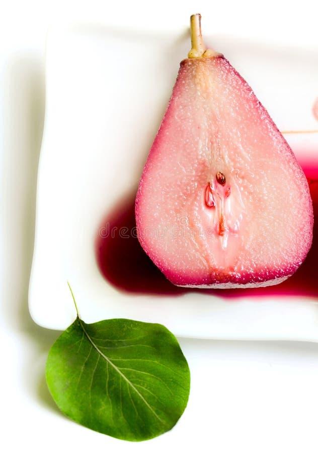 Pear dessert stock photography