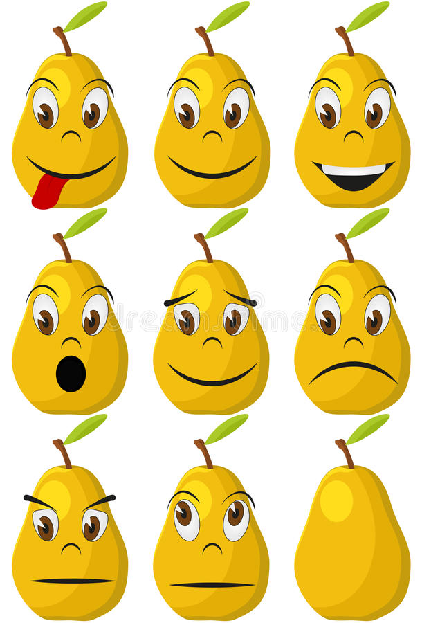 Pear Face Stock Image