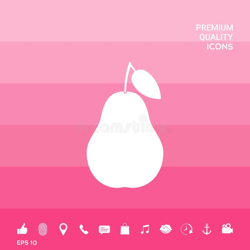 Pear icon symbol stock illustration