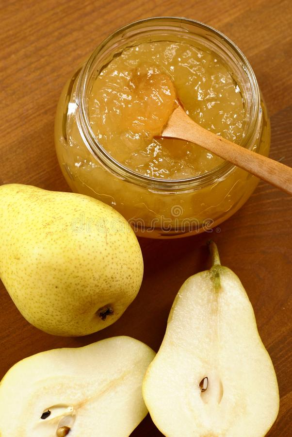 Pear jam stock photo