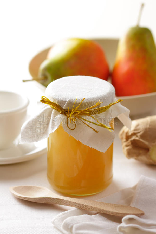 Pear jam royalty free stock photo