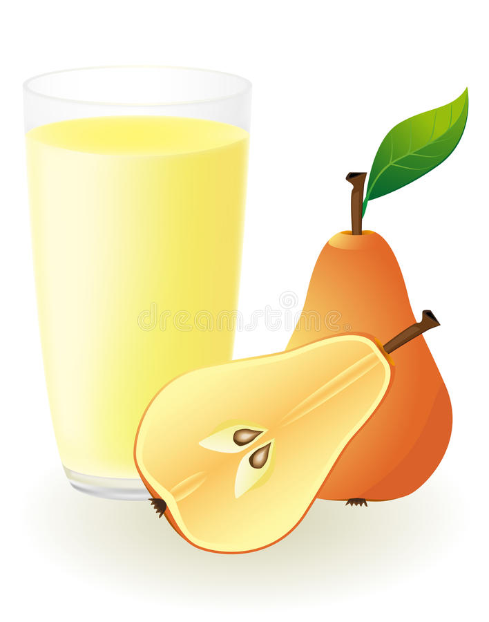 Pear juice vector illustration