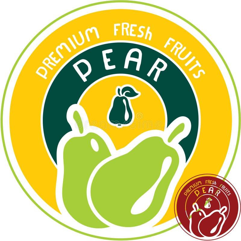 Download Pear label stock vector. Image of dessert, beverage, label - 30456803