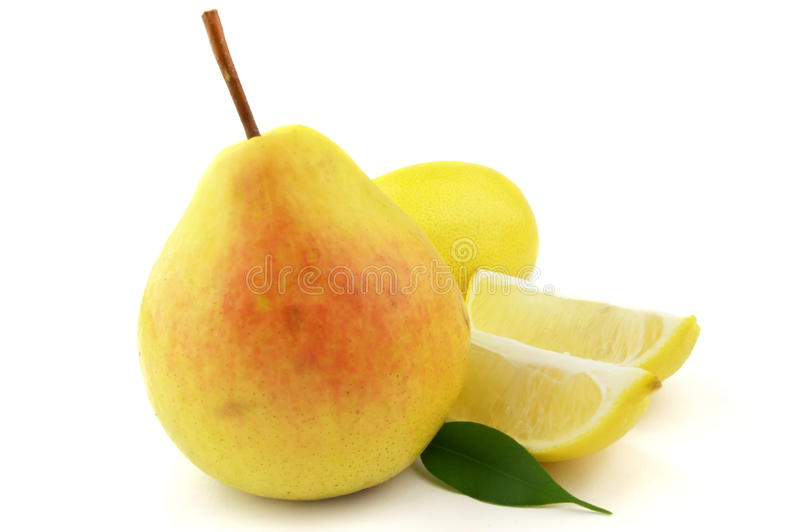 Download Pear with lemon stock photo. Image of isolated, macro - 11220498