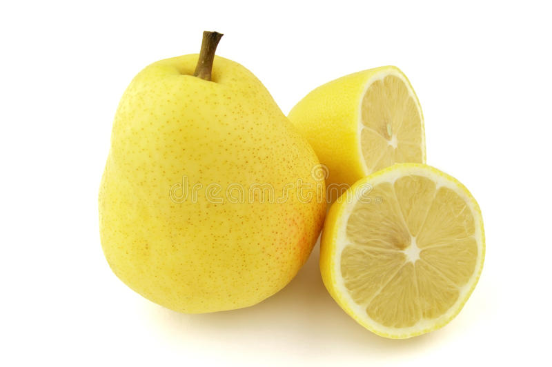 Download Pear with lemon stock image. Image of nature, citrus - 11275503