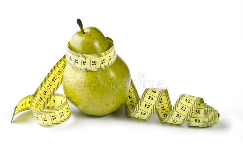 Download Pear and measuring tape stock image. Image of calories - 29183425