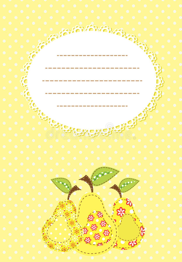 Download Pear patchwork background stock photo. Image of stylized - 24195722